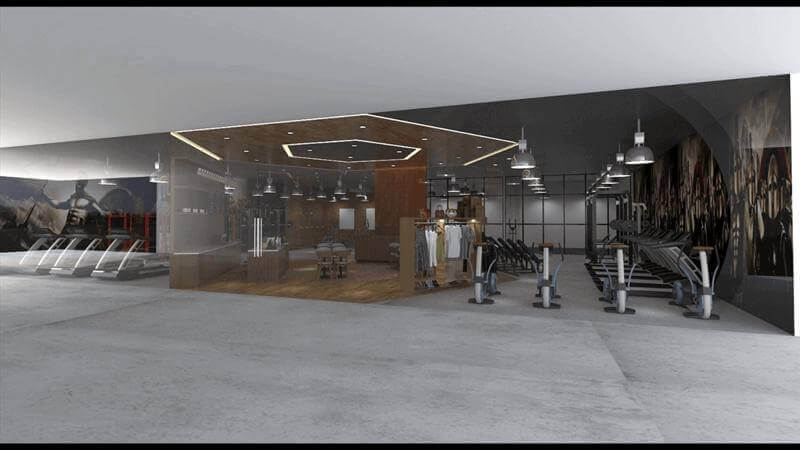 World Class Gym With Retail Facilities