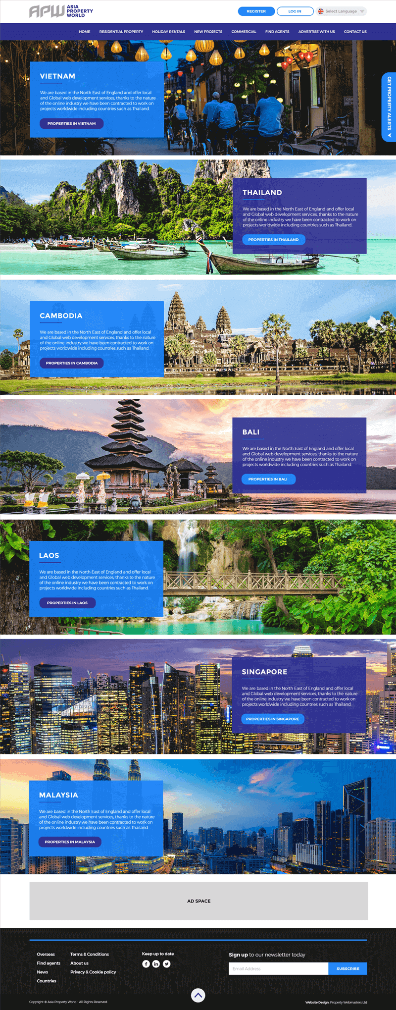 WELL ESTABLISHED PROPERTY WEBSITE IN ASIA WITH LARGE LISTINGS