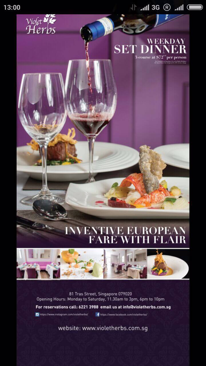 Modern European Fine Dining