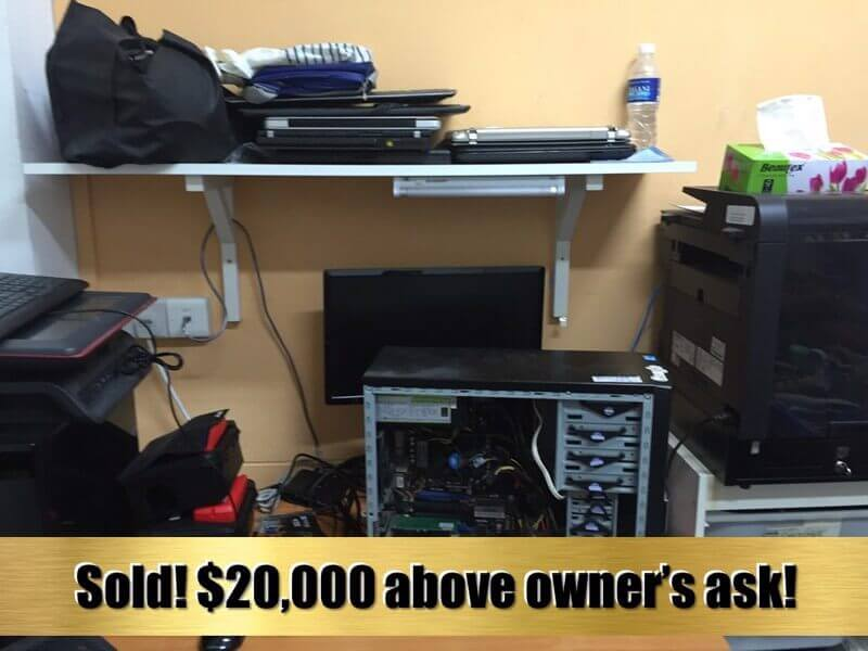 SOLD!!!--Profitable Computer Repair Shop Selling At 100% ROI / 1 X PE (Call David 91455466)
