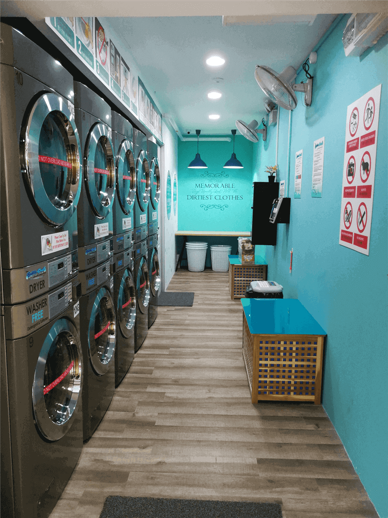 New 24 Hours Coin-Operated Laundry