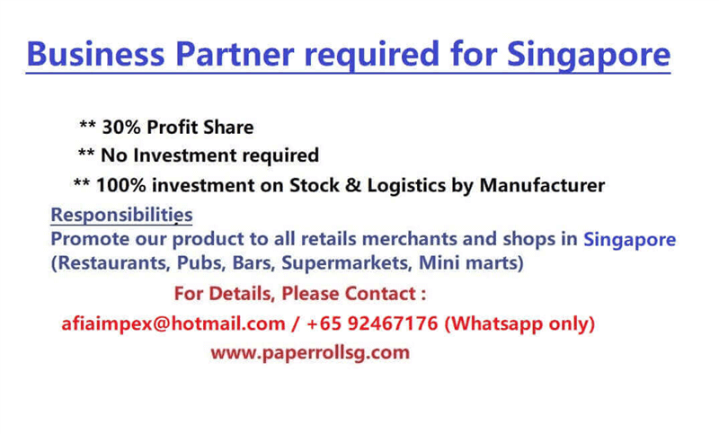 Business Partner Required / No Investment / Full Investment From US