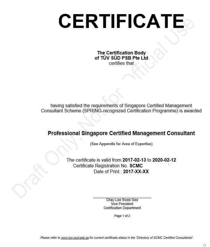 Enterprise Singapore Certified Management Consultancy/Software House