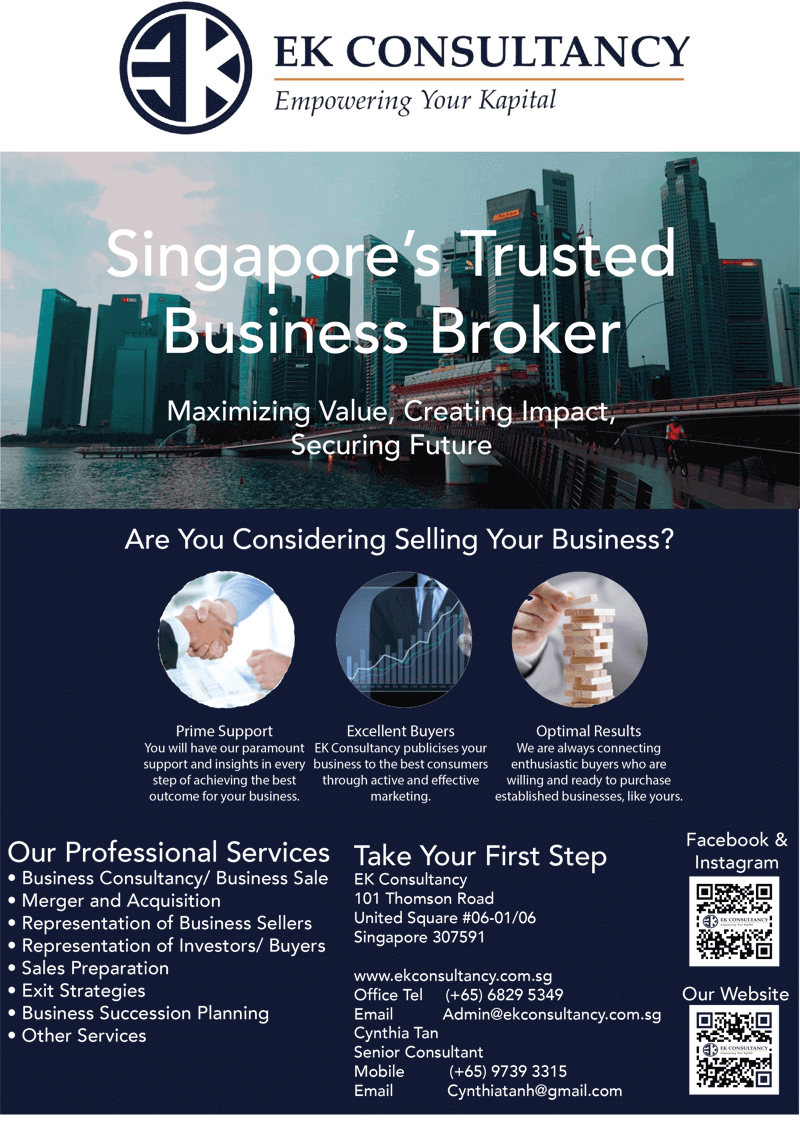 SELL Companies? Investors sourcing? EK consultancy is the choice Broker