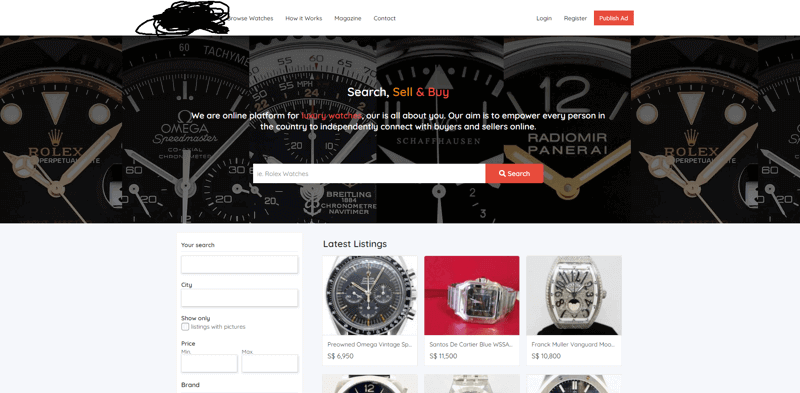 Luxury Watch MarketPlace! Looking For Investors/Marketer/Coders!