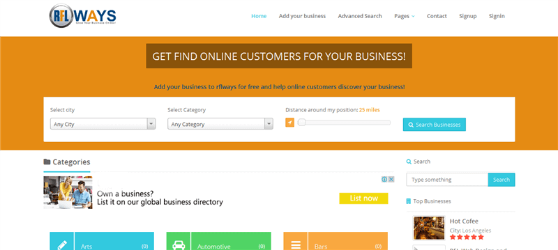 Rflways.Com Multipal Business Directory With Business Listed