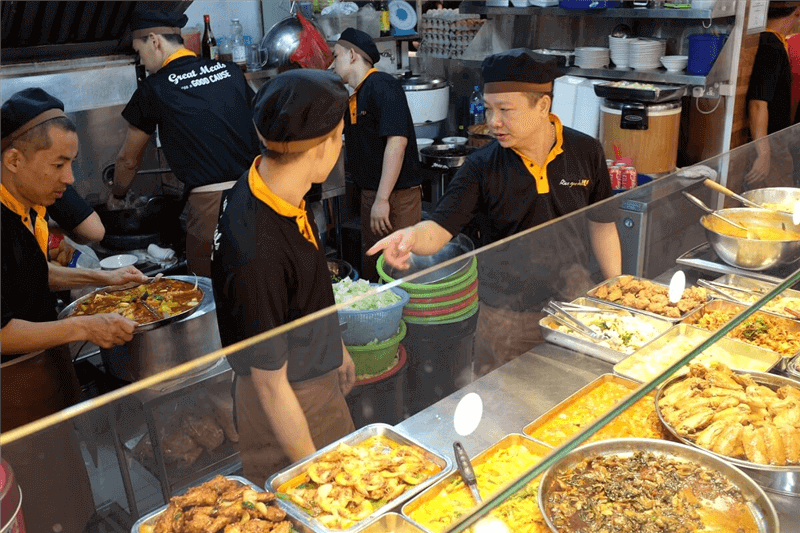 Food Stall With Unique Innovation On Simple Popular Economic Rice