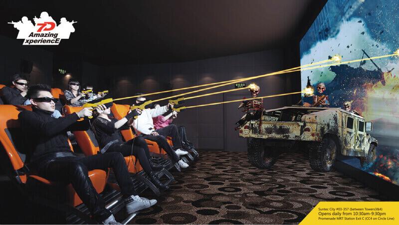7D Motion Ride Cum Multiplayer Interactive Game Entertainment Cinema