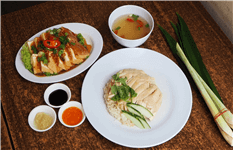 The National Dish Of Singapore, Authentic Hainanese Chicken Rice.